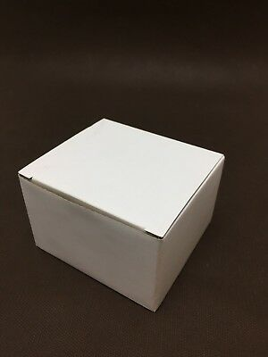 Batch of 10 Box in Cardboard White 100x90mm H65mm Simple Groove