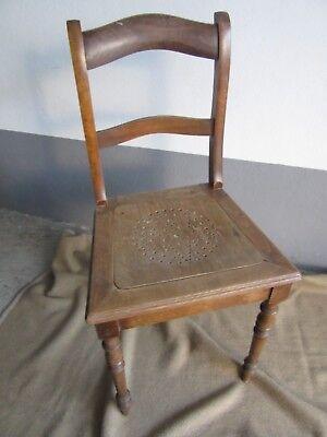 Schöner Alter Stuhl, Nussbaum, um 1890