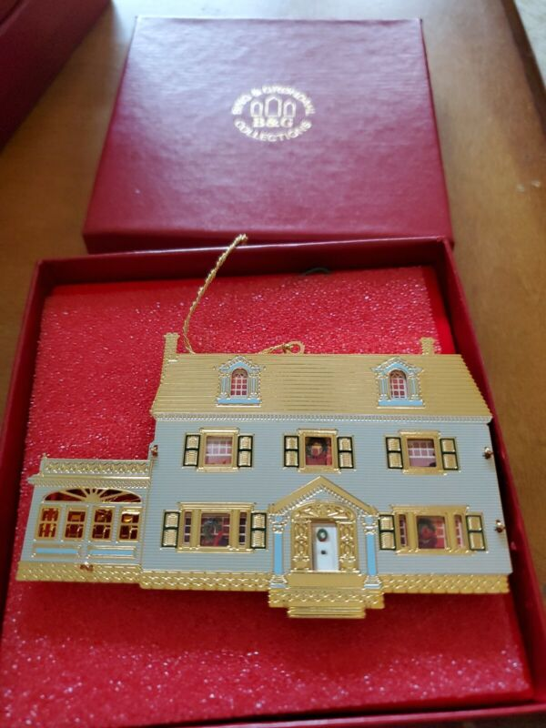 Christmas Ornament Bing and Grondahl B&G Collection Gold 2-side 1920