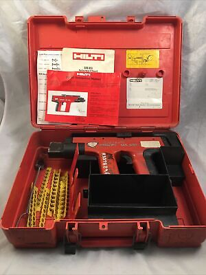 Hilti Dx451 Powder Actuated Nail Gun With Case Brush Etc Pre-owned Works