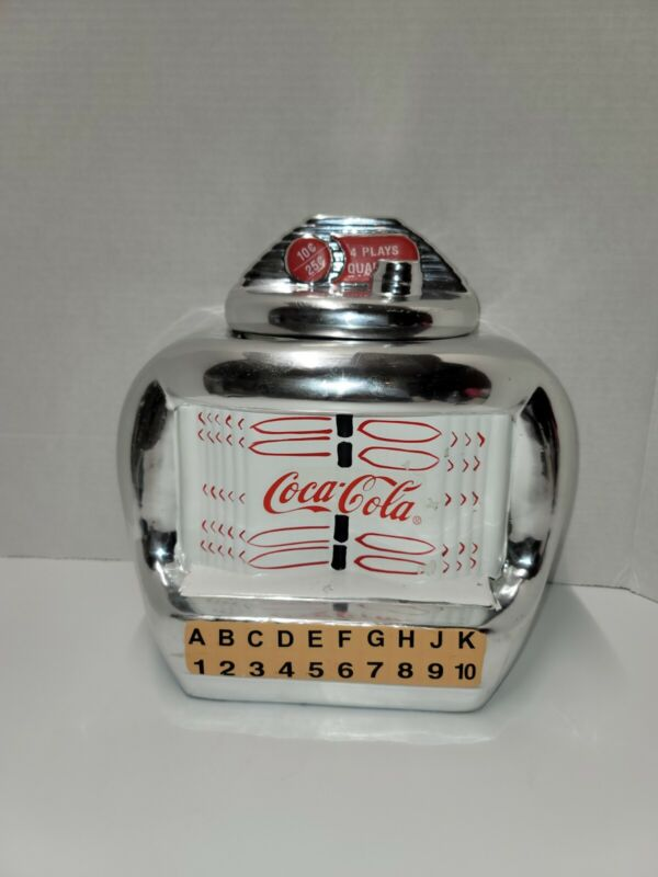 Vintage Coca Cola Ceramic Jukebox Cookie Jar 2000 Gibson