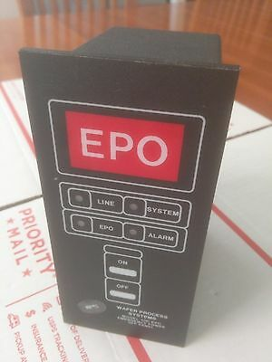 Wafer Process Systems 100 Epo Emergency Power Off Panel New 60 Day Warranty