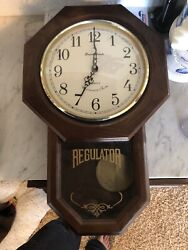 Daniel Dakota Quartz Westminster Chime Pendulum Wall Wood Clock 16x10 in