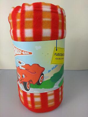 Big Bobby Car Polarfleecedecke 130x170cm Kinder Fleecedecke Kuscheldecke Deck Bobby Fleece