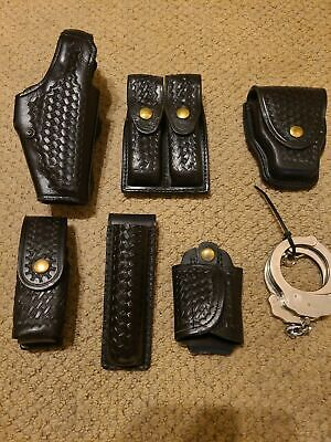 Safariland Policesecurity Leather Duty Belt Accessories Basketweave