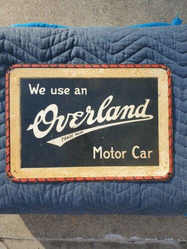 RARE HTF Overland motor car advertising sign WOW!!!