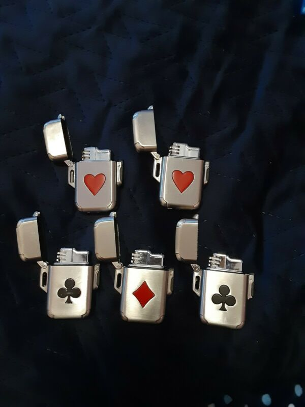 Novelty Playing Card Lighter Lot Of 5 *DO NOT WORK*