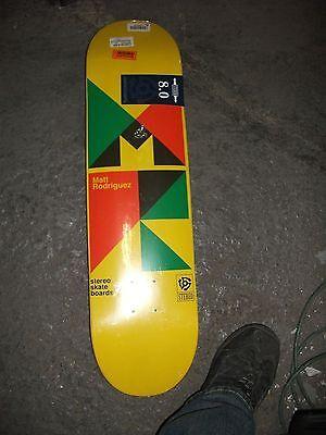 Stereo Skateboards Swiss Matt Rodriguez Skateboard Deck, 8.0