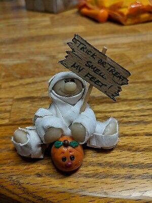 Cute Clay Made Halloween Mummy Trick or Treat Smell My Feet - Cute Halloween Treats