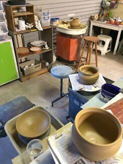 Pottery making classes, wheel work, hand built, custom mosaic