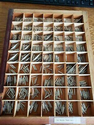 Vintage Letterpress Metal Type Kelsey Italic 8 Point Printing Type