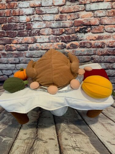 "Musical Animated Turkey Hat ""Turkey in the Straw"" Thanksgiving table"