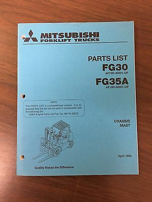Mitsubshi Forklift Parts Manual Fg30 And Fg35a
