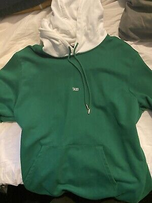 HELMUT LANG TAXI HOODIE GREEN/WHITE LIMITED EDITION MENS SIZE LARGE PORTUGAL NWT