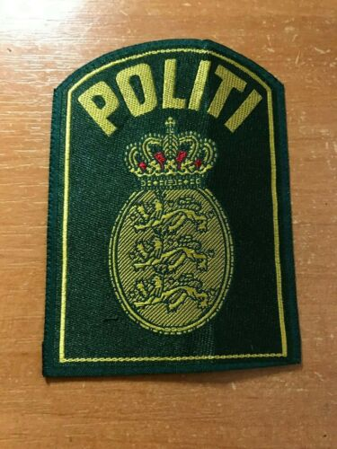 DENMARK  POLITI POLICE PATCH NATIONAL - ORIGINAL!