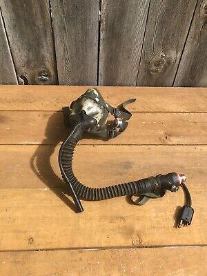 SIERRA MS 22001-5 MED Flight Helmet Oxygen Mask w Microphone & Hoses 70's