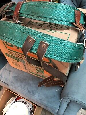 Buckingham Mfg Vintage Lineman Climbing Body Belt . Former Nimo . 2 Piece