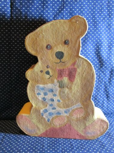 After Thoughts, Vintage Hand Painted Teddy Bears Bear Shaped Trinket Box