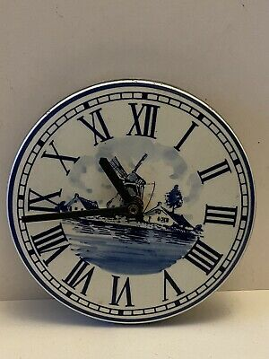 Delft wall clock For Spares Or Repair