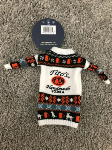 TITO'S HANDMADE VODKA SWEATER BOTTLE KOOZIES NEW WITH TAGS