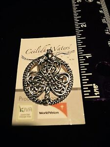 New Celtic silver pendent