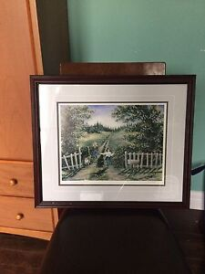 "Framed numbered print ""Lilacs for mom"""