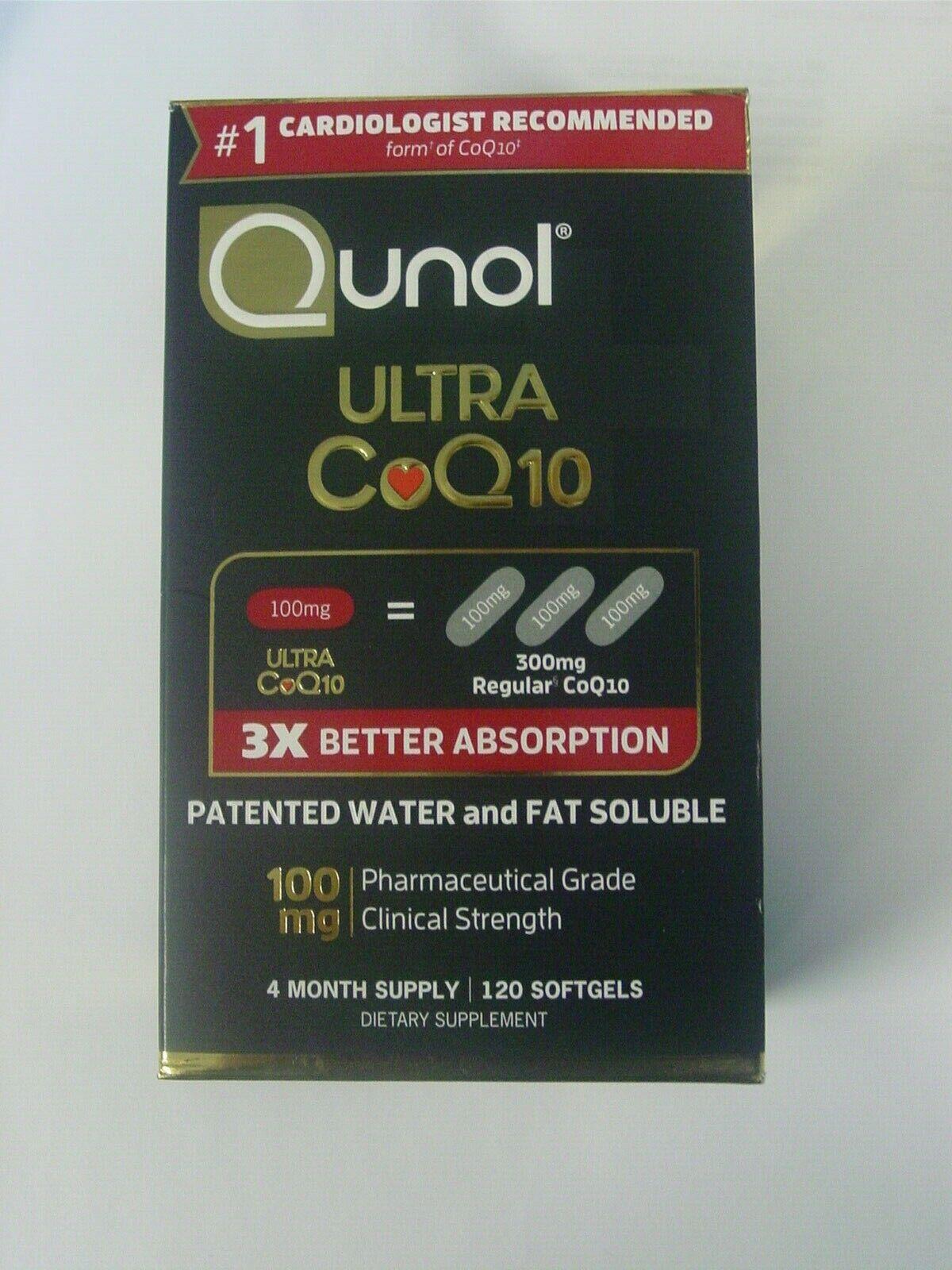 Qunol Ultra CoQ10 Dietary Supplement Softgels - 100 MG 120ct