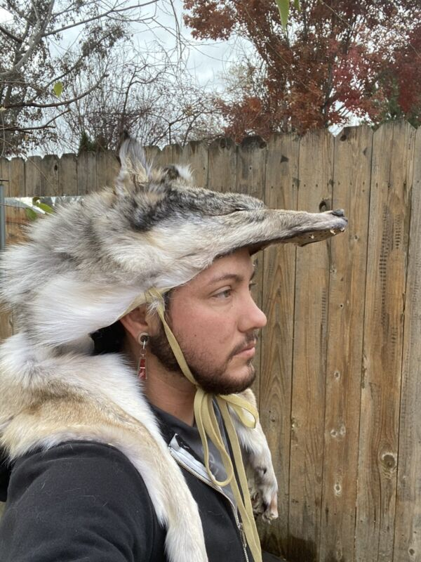 Coyote Headdress Native American Mountain Man rendezvous All Paws And Claws MTO