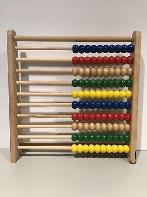 Schylling Toys Abacus Wood Educational Counting Colorful Standing Mathematics
