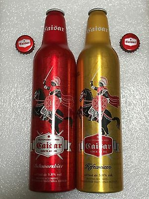 "China Caisar Beer ""Knight"" 473ml Empty Aluminum Bottle Set"