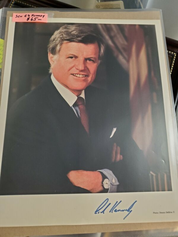 Ted Kennedy Signed Photo  Rare