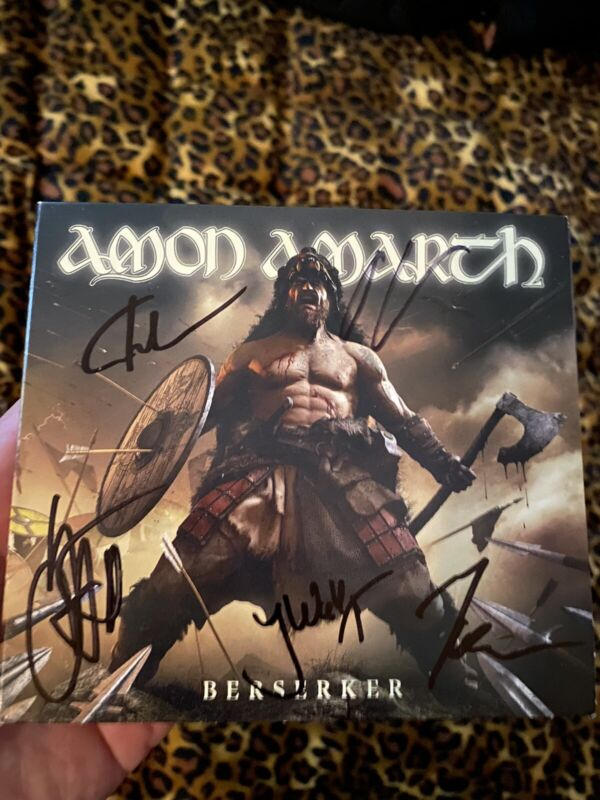 Amon Amarth Band Autographed CD