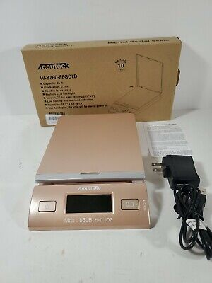 Accuteck Led Digital Postal Scale 86lbs With Ac Adapter - Gold