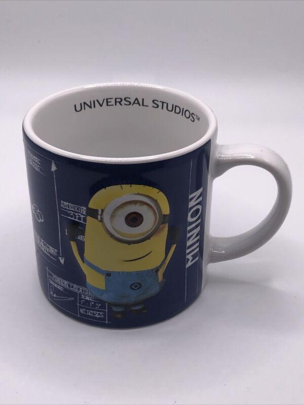 "Universal Studios Despicable Me Minion Blue Print Designsmall Coffee Cup 3"""