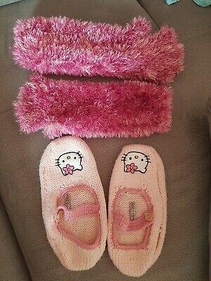 Hello Kitty Hausschuhe Socken 35 - 38 Handschuhe - Kinder Hello Kitty Kostüm