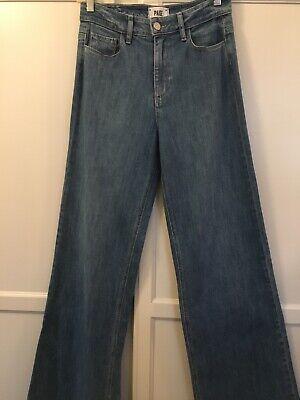Denim Extra Long Jeans - Paige Sutton High Rise Wide Leg Extra Long Denim Blue Jeans  Kendra Sz. 27