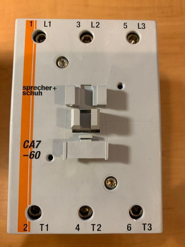SPRECHER SCHUH Contactor CA7-60-00-24V 60HZ