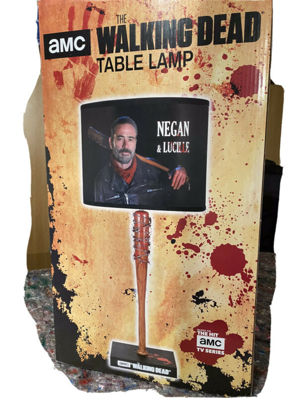 AMC The Walking Dead Negan Lucille Bat Table Lamp NIB RARE