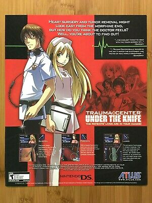 Trauma Center: Under the Knife Nintendo DS 2005 Vintage Print Ad/Poster Official