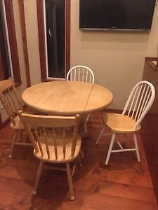Small wood dining table and chairs