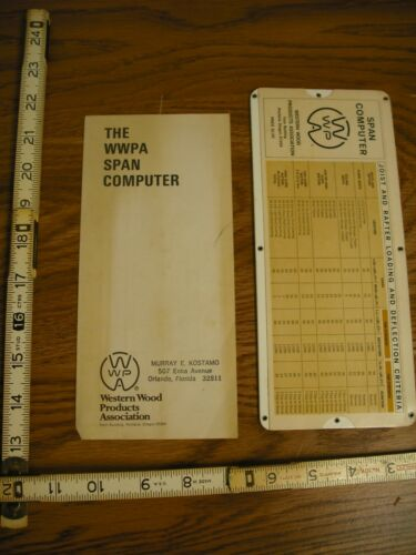 The Western Wood Products Association (WWPA) Span Computer and Guide
