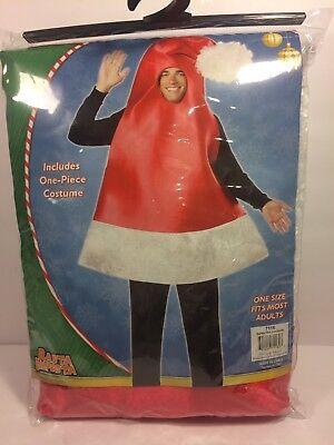 Rasta Imposta Santa Hat Costume, Red, One Size Fits Most Adults - Rasta Santa Hat