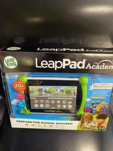 NEW LeapFrog LeapPad Academy 16GB Tablet Green 6022 3-8 YEAR