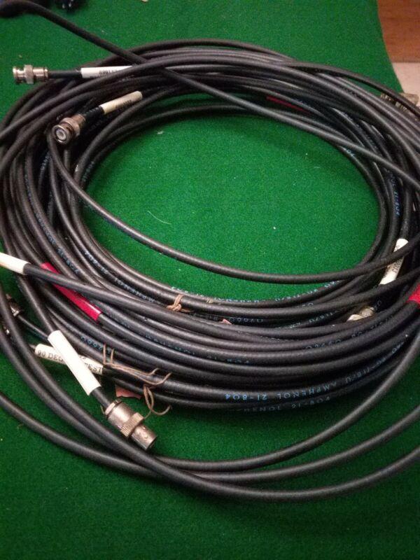 Ampenol Rf Cable Lot Assortment