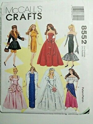 Barbie Costumes For Adults (McCall's Crafts 8552 Barbie Doll Clothes Fashion for 11.5