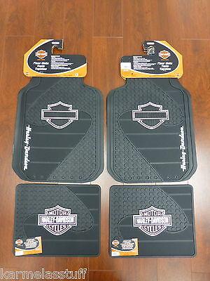 Harley Davidson Truck Floor Mats - Harley-Davidson Factory Front and Rear Car Truck Rubber Floor Mats Pink NEW