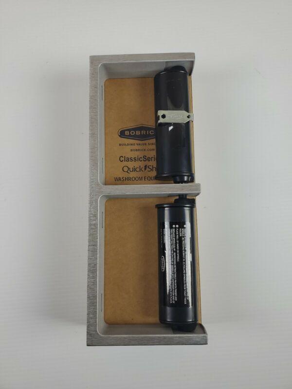 Bobrick ClassicSeries Dual Roll Toilet Paper Dispenser, Cast Aluminum (BOB2740)
