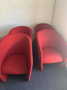 Red couch chair