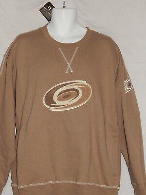 Carolina Hurricanes Vintage Sweat Shirt NHL Hockey Logo Patch Jersey Men's M L Hockey Logo Sweatshirt