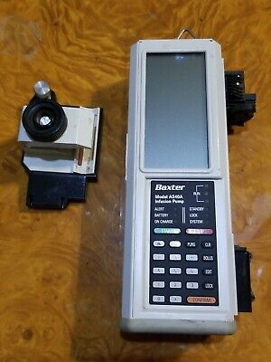 Baxter Infusion Pump As40a With Pole Clamp